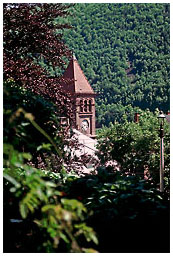 Courthouse clock tower in Jim Thorpe